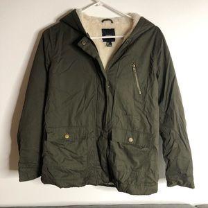 Olive green Sherpa jacket